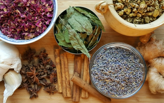 herbal infused honey - herbs and spices